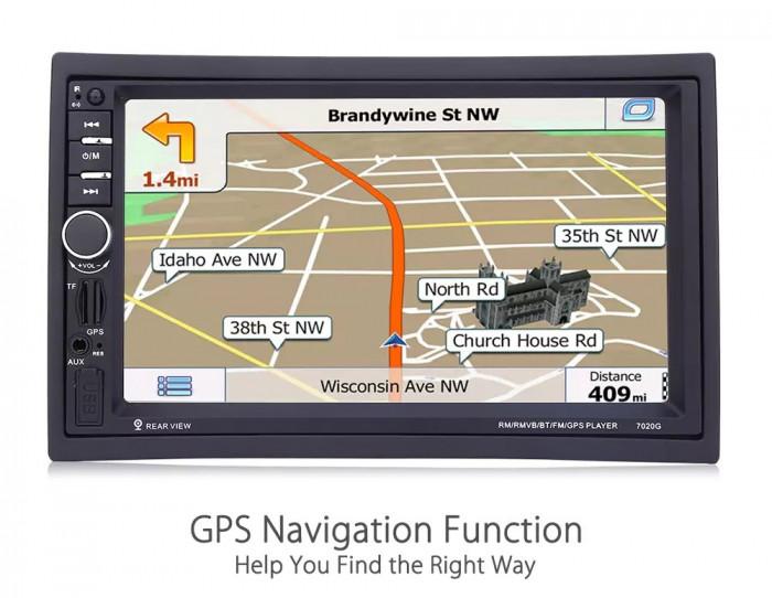 Navigatie Auto 7inch GPS Harti IGO DVD Casetofon Player  Mp3 MirrorLink USB 2DIN