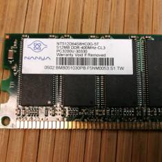 Ram PC Nanya 512MB 400 MHz NT512D64S8HC0G-5T - Memorie RAM laptop Nanya, DDR2