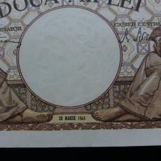 Bancnote romania 2000lei 1945 martie unc - Bancnota romaneasca