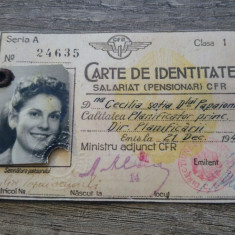 Carte de identitate salariat (pensionar) CFR/ 1949, Documente