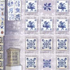 CERAMICA, ROMANIA-PORTUGALIA EMISIUNE COMUNA, MINISHEET, 2010, MNH, ROMANIA. - Timbre Romania, Istorie, Nestampilat