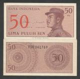 INDONESIA  INDONEZIA   50  SEN  1964  UNC   [1]  P-94a  , necirculata