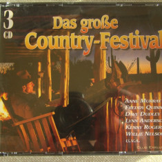 THE GREAT COUNTRY FESTIVAL - 3 C D Originale - Muzica Country