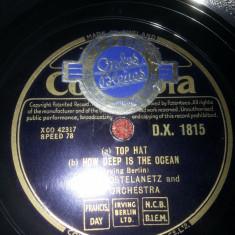 Disc gramofon patefon Andre Kostelanetz & Orchestra Columbia UK vinil vinyl - Muzica Jazz