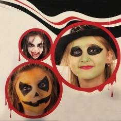 Kit vopsea fata si corp, Halloween Kid, 5 culori, sange fals, PaintGlow - Face painting copii