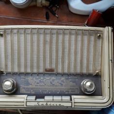 RADIO SABA SABINE L, RADIO PE LAMPI ANUL 1958, FUNCTIONEAZA !! - Aparat radio