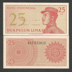 INDONESIA INDONEZIA 25 SEN 1964 UNC [1] P-93a, necirculata - bancnota asia