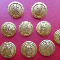 Lot nasturi metalici aurii, insemne heraldice, pt veston/sacou barbati