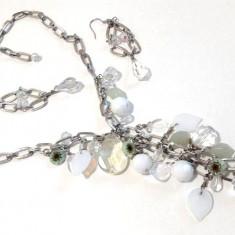 OFERTA - Set bijuterii dama-PPP(colier+ cercei) VINTAGE placat cu aur 18k