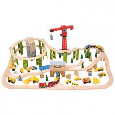 Circuit auto si feroviar din lemn - Santierul - Garnitura Circuit Ulei Auto