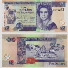 BELIZE- 2 DOLLARS 2014(2015)-P 66- UNC!! - bancnota asia