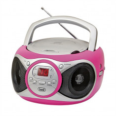 TREVI CD 512 CD-player/CD-R/RW CD-RW MP3-CD, FM, RADIO AUX, culoare roz