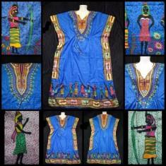 ROCHIE ALBASTRA LUNGA ANCHIOR MATASE FEMEI INDIENE VARA PLAJA made in INDIA - Rochie de zi, Marime: Marime universala, Culoare: Din imagine