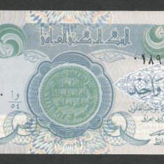 IRAK IRAQ 1 DINAR 1992 [2] P-79, putin rupta in partea de sus - bancnota asia
