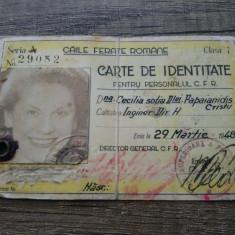 Carte de identitate pentru personalul CFR/ 1948, Documente