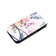 Husa Flip Cover Tellur pentru telefon Samsung Galaxy S4 Butterflies, Piele Ecologica, Cu clapeta