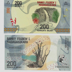 MADAGASCAR- 200 ARIARY 2017- P NEW- UNC!! - bancnota africa