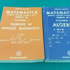 MATEMATICĂ *MANUAL PENTRU CLASA A XII-A/ PROFIL M1 /2 VOL. /MIRCEA GANGA/2005 - Carte Matematica