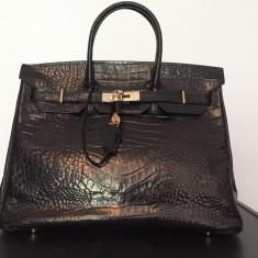 Hermes BIRKIN 35CM matte black crocodile vintage - Geanta Dama Hermes, Culoare: Negru, Marime: Medie