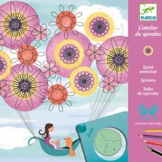 Joc creativ de facut spirale Marguerite - Djeco - Jocuri arta si creatie