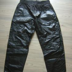 Pantaloni din piele ALEXANDER WANG noi cu eticheta, L - Pantaloni dama, Marime: L, Culoare: Negru