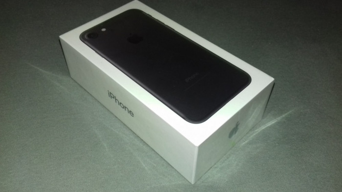 IPhone7, 32GB, matte black, nou, sigilat. foto mare