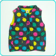 Vesta din catifea reiata, groasa, calduroasa, CARTER'S → fete | 5—6 ani | 116 cm, Marime: Alta, Culoare: Multicolor