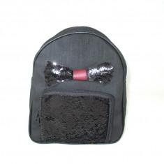 Rucsac/ghiozdan dama negru cu paiete+CADOU - Rucsac dama, Piele ecologica