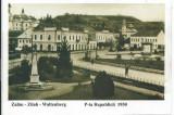 Zalau- Carte Postala necirculata-Piata Republici 1950, Fotografie
