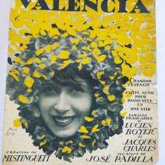 (T) Partitura muzicala veche, 1925, Valencia, lb. franceza
