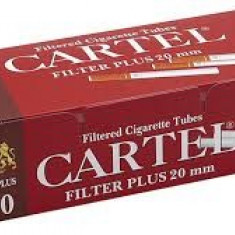 CARTEL FILTER PLUS 20mm 200 X 5 cutii + TABACHERA METALICA COMBI - Foite tigari