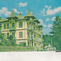 Bnk cp Slanic Moldova - Vila Caprioara - uzata - Carte Postala Moldova dupa 1918, Circulata, Printata