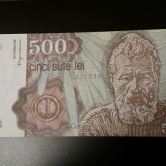 ROMANIA -500 LEI 1991 UNC APRILIE - DE COLECTIE - Bancnota romaneasca