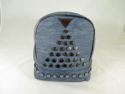 Rucsac/ghiozdan dama albastru gen blug cu capse+CADOU foto