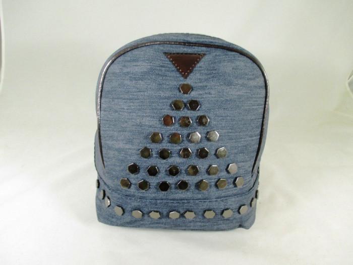Rucsac/ghiozdan dama albastru gen blug cu capse+CADOU