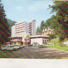 Bnk cp Slanic Moldova - Hotel Perla - circulata - Carte Postala Moldova dupa 1918, Printata