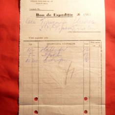 Bon de Expeditie cu Antet Topitoria Romana de Litere