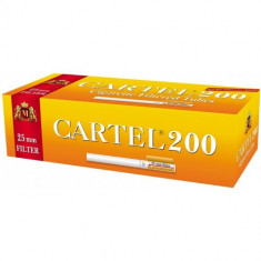 CARTEL XTRA FILTER 25mm 200 X 5 cutii + TABACHERA METALICA COMBI - Foite tigari