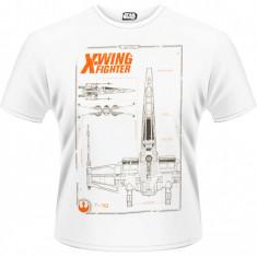 Tricou Star Wars - Ep. VII - X-Wing Maintenance Manual - Tricou barbati, Marime: XL, Maneca scurta