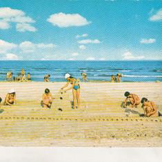 Bnk cp Navodari - Pe malul marii - circulata - marca fixa - Carte Postala Dobrogea dupa 1918, Printata