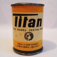 (T) Cutie tabla veche Titan Lac negru pentru sobe 1973, cutia plina, pt colectie - Cutie Reclama