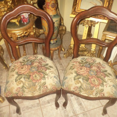 Set de 2 superbe scaune vechi perioada anilor 1900