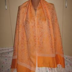 Esarfa/ sal casmir/ matase orange, mare - Esarfa, Sal Dama, Culoare: Din imagine, Marime: Marime universala
