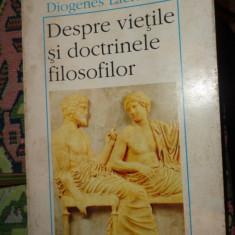 Despre vietile si doctrinele filosofilor an 1997/618pag- Diogenes Laertios - Filosofie