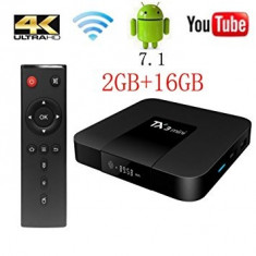 Media player TV BOX PC TX3 Mini, 4K, Quad Core 1.2, 2GB DDR3, 16GB, Android 7