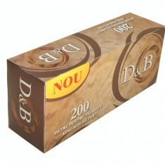 D&B FILTER 200 X 5 cutii + TABACHERA METALICA COMBI - Foite tigari