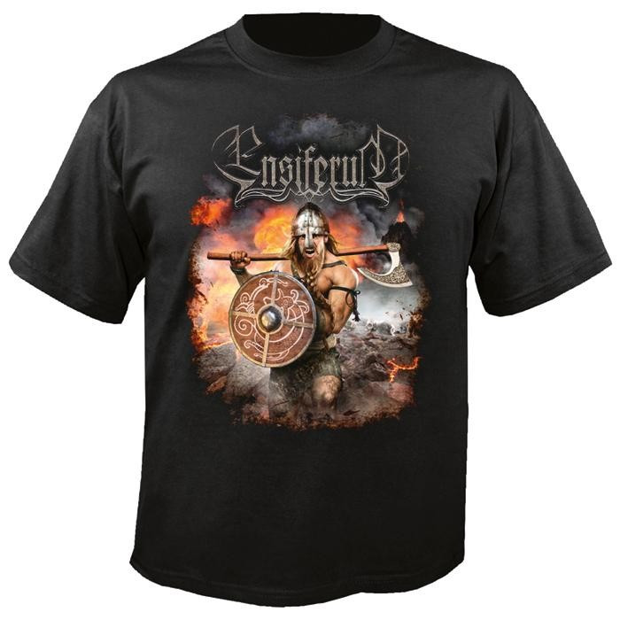 Tricou Ensiferum - Viking Warrior foto mare