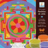 Joc cu nisip colorat Djeco - Mandala tibetana - Jocuri arta si creatie