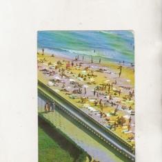 Bnk cp Eforie Nord - Pe plaja - uzata - Carte Postala Dobrogea dupa 1918, Circulata, Printata