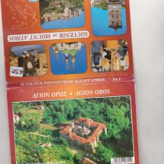 Bnk cp Muntele Athos - pliant cu 10 carti postale necirculate, Grecia, Necirculata, Printata